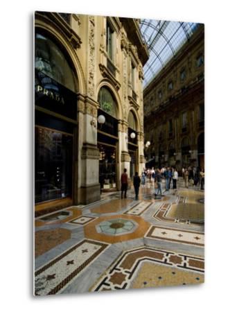 Galleria Vittorio Emanuele Ii, Milan, Lombardy, Italy, Europe-Charles Bowman-Metal Print