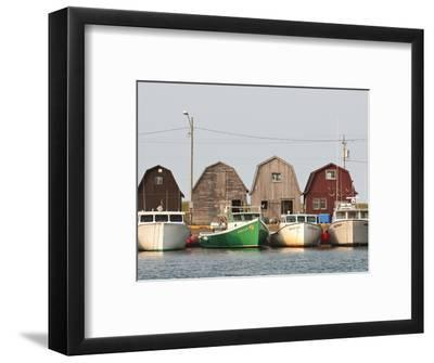 Fishing Boats in Malpeque Harbour, Malpeque, Prince Edward Island, Canada, North America-Michael DeFreitas-Framed Photographic Print