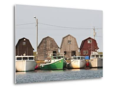 Fishing Boats in Malpeque Harbour, Malpeque, Prince Edward Island, Canada, North America-Michael DeFreitas-Metal Print