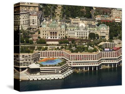 View From Helicopter of the Casino, Monte Carlo, Monaco, Cote D'Azur, Europe-Sergio Pitamitz-Stretched Canvas Print