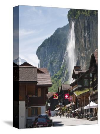 Staubbach Falls in Lauterbrunnen, Jungfrau Region, Switzerland, Europe-Michael DeFreitas-Stretched Canvas Print
