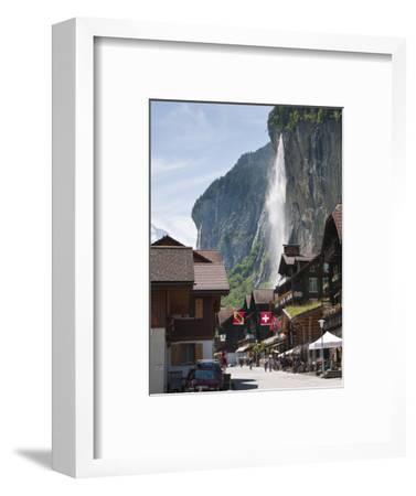 Staubbach Falls in Lauterbrunnen, Jungfrau Region, Switzerland, Europe-Michael DeFreitas-Framed Photographic Print
