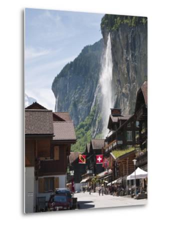 Staubbach Falls in Lauterbrunnen, Jungfrau Region, Switzerland, Europe-Michael DeFreitas-Metal Print