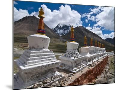 Chortens, Prayer Stupas Below the Holy Mountain Mount Kailash in Western Tibet, China, Asia-Michael Runkel-Mounted Photographic Print