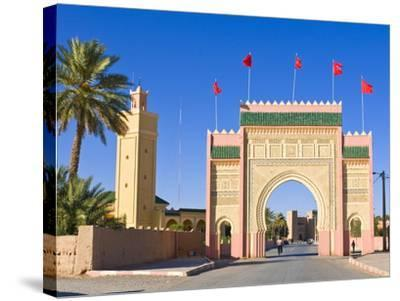 Entrance Gate to the Desert Town of Rissani, Morocco, North Africa, Africa-Michael Runkel-Stretched Canvas Print