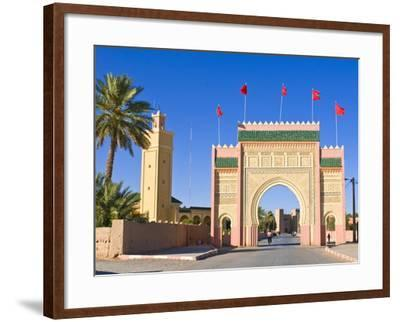 Entrance Gate to the Desert Town of Rissani, Morocco, North Africa, Africa-Michael Runkel-Framed Photographic Print