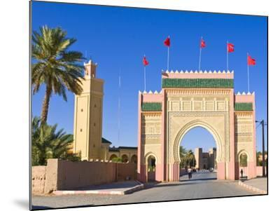 Entrance Gate to the Desert Town of Rissani, Morocco, North Africa, Africa-Michael Runkel-Mounted Photographic Print