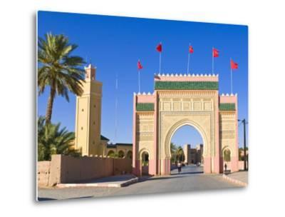 Entrance Gate to the Desert Town of Rissani, Morocco, North Africa, Africa-Michael Runkel-Metal Print
