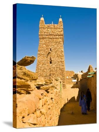 Ksar of the Medieval Trading Centre of Chinguetti, UNESCO World Heritage Site, Northern Mauritania-Michael Runkel-Stretched Canvas Print