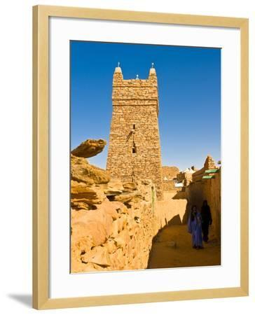 Ksar of the Medieval Trading Centre of Chinguetti, UNESCO World Heritage Site, Northern Mauritania-Michael Runkel-Framed Photographic Print