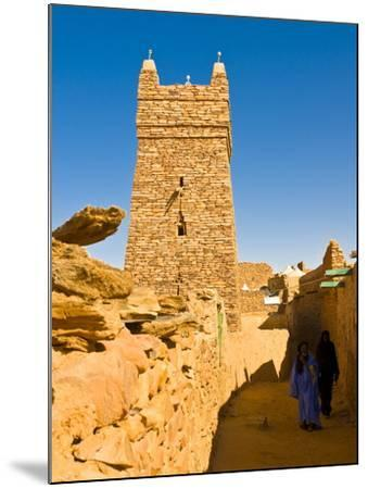 Ksar of the Medieval Trading Centre of Chinguetti, UNESCO World Heritage Site, Northern Mauritania-Michael Runkel-Mounted Photographic Print