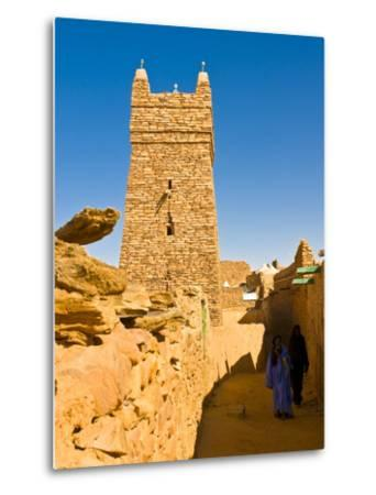 Ksar of the Medieval Trading Centre of Chinguetti, UNESCO World Heritage Site, Northern Mauritania-Michael Runkel-Metal Print