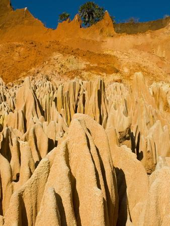Red Tsingys, Strange Looking Sandstone Formations, Near Diego Suare (Antsiranana), Madagascar-Michael Runkel-Framed Photographic Print