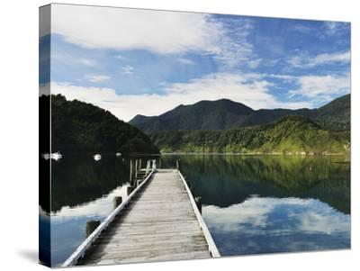 Penzance Bay, Tennyson Inlet, Marlborough Sounds, Marlborough, South Island, New Zealand, Pacific-Jochen Schlenker-Stretched Canvas Print
