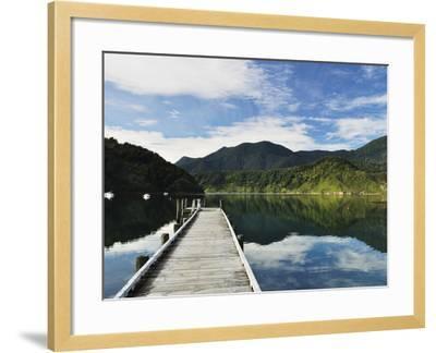 Penzance Bay, Tennyson Inlet, Marlborough Sounds, Marlborough, South Island, New Zealand, Pacific-Jochen Schlenker-Framed Photographic Print