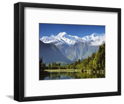 Lake Matheson, Mount Tasman and Mount Cook, Westland Tai Poutini National Park, New Zealand-Jochen Schlenker-Framed Photographic Print