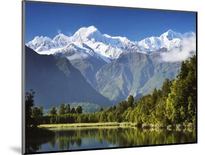 Lake Matheson, Mount Tasman and Mount Cook, Westland Tai Poutini National Park, New Zealand-Jochen Schlenker-Mounted Photographic Print