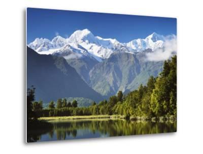 Lake Matheson, Mount Tasman and Mount Cook, Westland Tai Poutini National Park, New Zealand-Jochen Schlenker-Metal Print