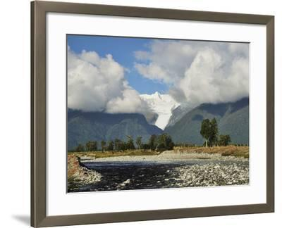 Clearwater Creek and Fox Glacier, Westland Tai Poutini National Park, New Zealand-Jochen Schlenker-Framed Photographic Print