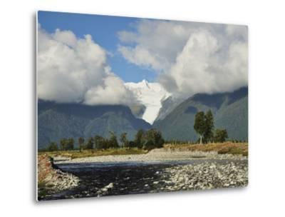 Clearwater Creek and Fox Glacier, Westland Tai Poutini National Park, New Zealand-Jochen Schlenker-Metal Print