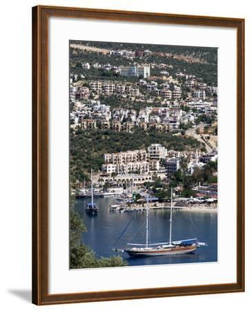 Gulet Anchored at Kalkan, a Popular Tourist Resort, Antalya Province, Anatolia, Turkey--Framed Photographic Print