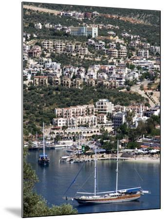 Gulet Anchored at Kalkan, a Popular Tourist Resort, Antalya Province, Anatolia, Turkey--Mounted Photographic Print