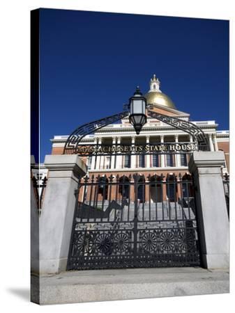 Massachusetts State House, Boston, Massachusetts, New England, USA--Stretched Canvas Print