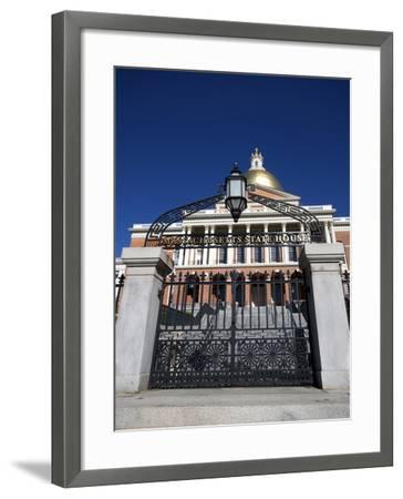 Massachusetts State House, Boston, Massachusetts, New England, USA--Framed Photographic Print