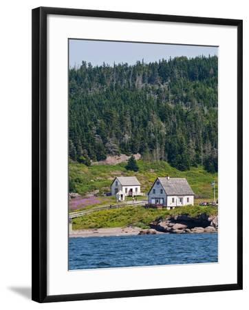 Historic Settlement on Ile Bonaventure Offshore of Perce, Quebec, Canada, North America-Michael DeFreitas-Framed Photographic Print