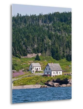 Historic Settlement on Ile Bonaventure Offshore of Perce, Quebec, Canada, North America-Michael DeFreitas-Metal Print