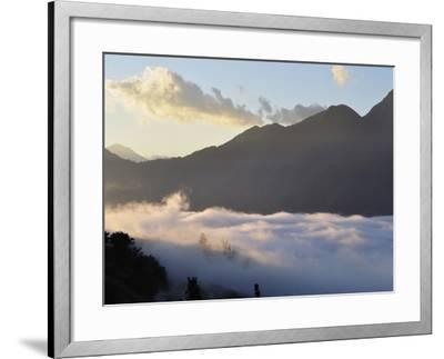 Hoang Lien Mountains and Morning Fog in Sapa Valley, Sapa, Vietnam, Indochina, Southeast Asia, Asia-Jochen Schlenker-Framed Photographic Print