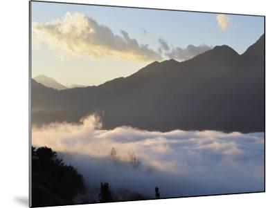 Hoang Lien Mountains and Morning Fog in Sapa Valley, Sapa, Vietnam, Indochina, Southeast Asia, Asia-Jochen Schlenker-Mounted Photographic Print