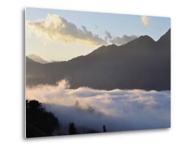 Hoang Lien Mountains and Morning Fog in Sapa Valley, Sapa, Vietnam, Indochina, Southeast Asia, Asia-Jochen Schlenker-Metal Print