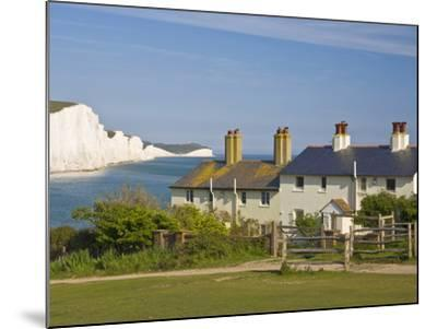View of the Seven Sisters Cliffs, the Coastguard Cottages on Seaford Head, East Sussex-Neale Clarke-Mounted Photographic Print