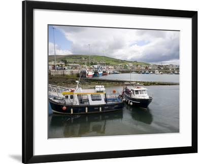 Dingle Harbour With Fishing Boats, Dingle, County Kerry, Munster, Republic of Ireland, Europe--Framed Photographic Print