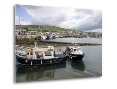 Dingle Harbour With Fishing Boats, Dingle, County Kerry, Munster, Republic of Ireland, Europe--Metal Print