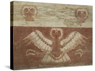 Mural in the Palace of Tetitla, Believed to Represent An Eagle, Arch. Zone of Teotihuacan, Mexico-Richard Maschmeyer-Stretched Canvas Print