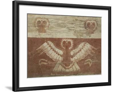 Mural in the Palace of Tetitla, Believed to Represent An Eagle, Arch. Zone of Teotihuacan, Mexico-Richard Maschmeyer-Framed Photographic Print