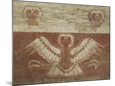 Mural in the Palace of Tetitla, Believed to Represent An Eagle, Arch. Zone of Teotihuacan, Mexico-Richard Maschmeyer-Mounted Photographic Print