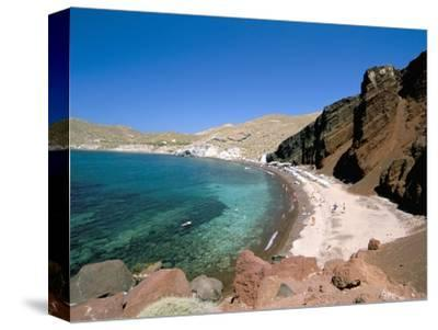 Red Beach, Akrotiri, Island of Santorini (Thira), Cyclades Islands, Aegean, Greek Islands-Sergio Pitamitz-Stretched Canvas Print