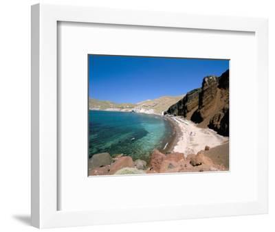 Red Beach, Akrotiri, Island of Santorini (Thira), Cyclades Islands, Aegean, Greek Islands-Sergio Pitamitz-Framed Photographic Print