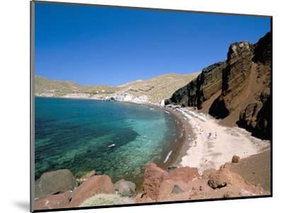 Red Beach, Akrotiri, Island of Santorini (Thira), Cyclades Islands, Aegean, Greek Islands-Sergio Pitamitz-Mounted Photographic Print