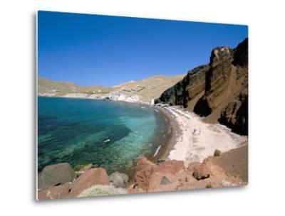 Red Beach, Akrotiri, Island of Santorini (Thira), Cyclades Islands, Aegean, Greek Islands-Sergio Pitamitz-Metal Print