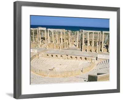 Theatre, Leptis Magna, UNESCO World Heritage Site, Tripolitania, Libya, North Africa, Africa-Sergio Pitamitz-Framed Photographic Print