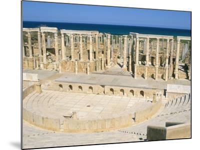 Theatre, Leptis Magna, UNESCO World Heritage Site, Tripolitania, Libya, North Africa, Africa-Sergio Pitamitz-Mounted Photographic Print