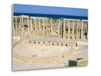 Theatre, Leptis Magna, UNESCO World Heritage Site, Tripolitania, Libya, North Africa, Africa-Sergio Pitamitz-Metal Print