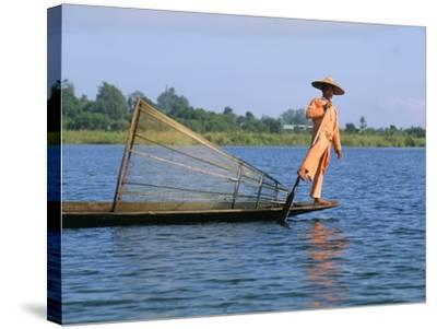 Fisherman, Inle Lake, Shan State, Myanmar (Burma), Asia-Sergio Pitamitz-Stretched Canvas Print