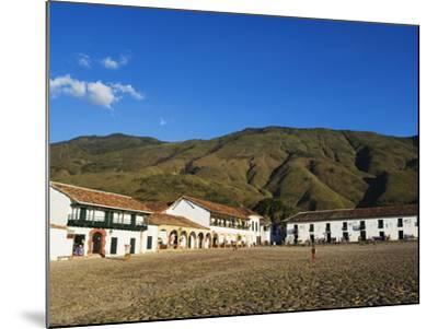 Plaza Mayor, Largest Public Square in Colombia, Colonial Town of Villa De Leyva, Colombia-Christian Kober-Mounted Photographic Print