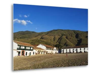 Plaza Mayor, Largest Public Square in Colombia, Colonial Town of Villa De Leyva, Colombia-Christian Kober-Metal Print