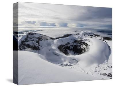 Summit Crater, Volcan Cotopaxi, 5897M, the Highest Active Volcano in the World, Ecuador-Christian Kober-Stretched Canvas Print